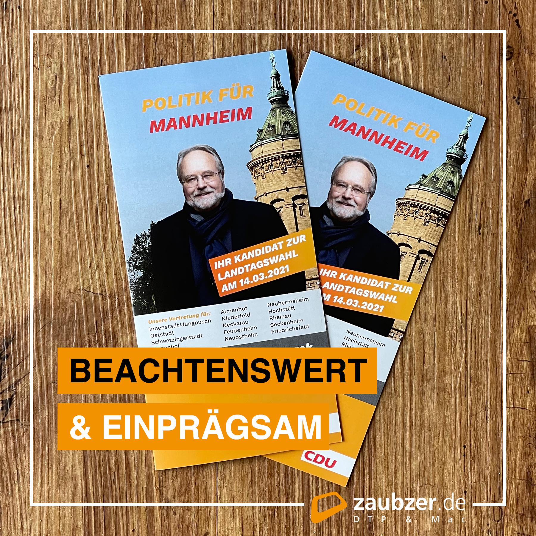 Flyer für Alfried Wieczorek